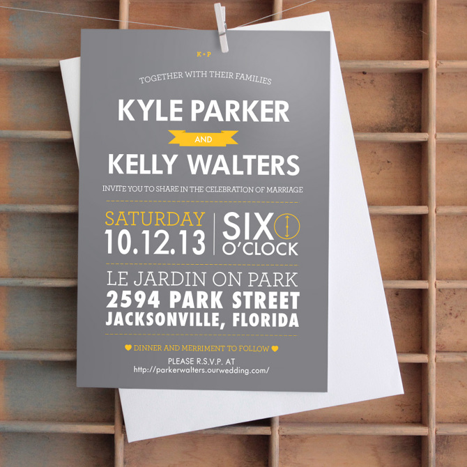 Modern Wedding Invitation - Ansley Randall