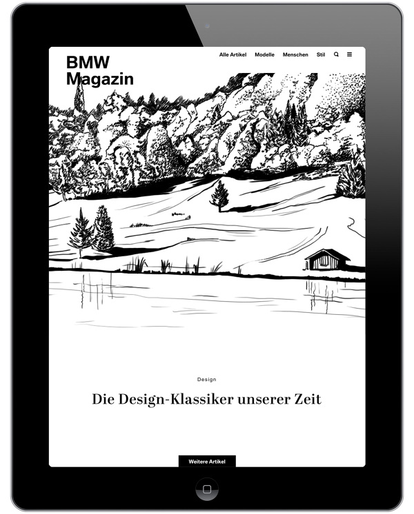 Bmw Magazine App Illustrations For Bmw Magazine